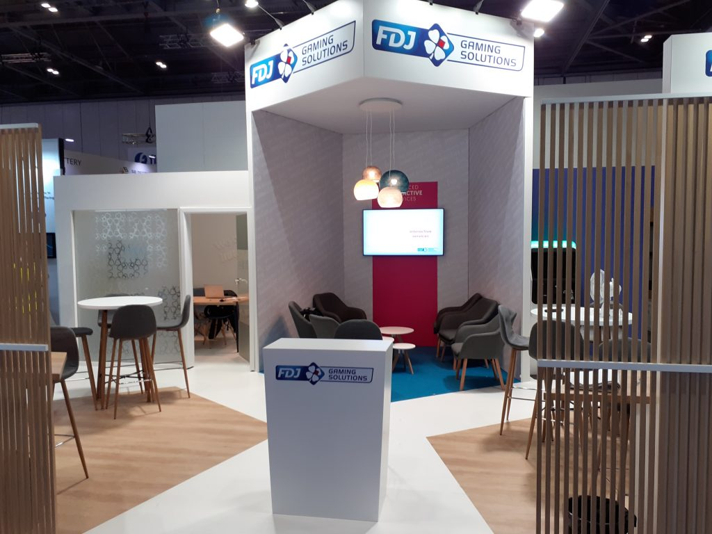 picture of stand of FDJ Gaming Solutions